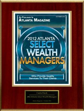 Curtis is a 2012 Atlanta Top Wealth Manager, as seen in Atlanta Magazine